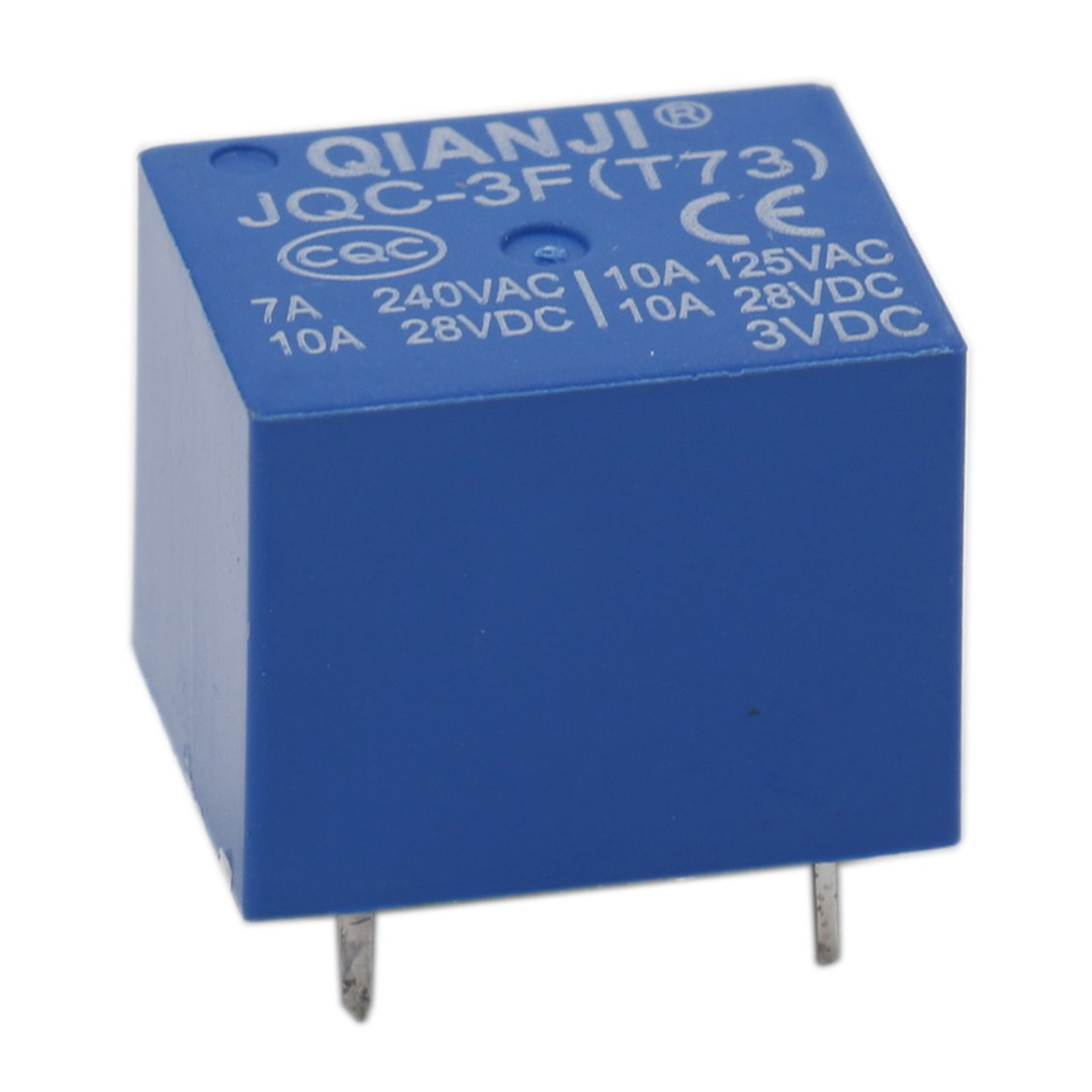 Heschen Pc Board Relay Jqc 3ft73 Dc 3v Coil Spst 7a 240vac 5 Pin Spdt Solid State 5v Terminals 5pack Business Industry Science