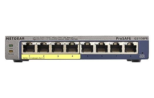 246 opinioni per Netgear GS108PE-300EUS ProSafe Switch Smart Plus Gigabit PoE, 8 Porte, 4 PoE,