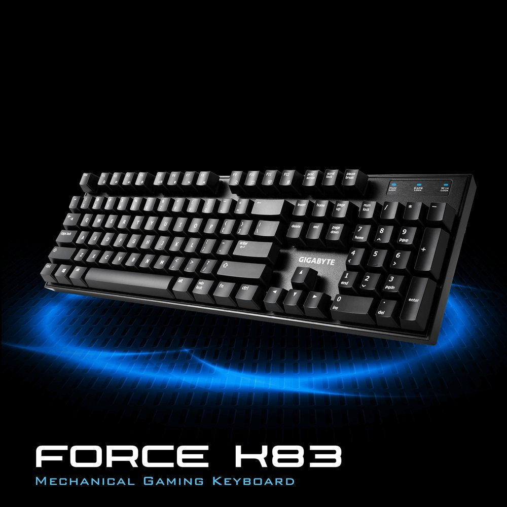 GK-Force K83 RED GIGABYTE Mechanical Cherry Red Keyboard