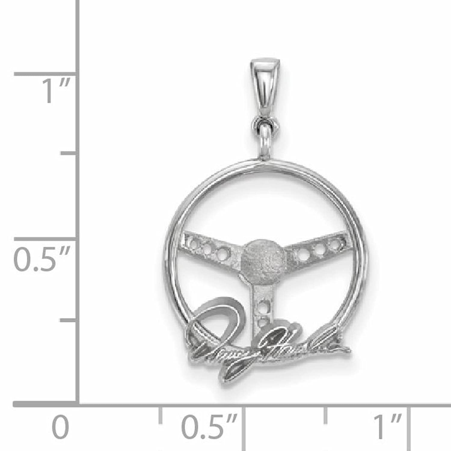 925 Sterling Silver Rhodium-plated Polished /& Textured LogoArt NASCAR Number 11 Charm Pendant