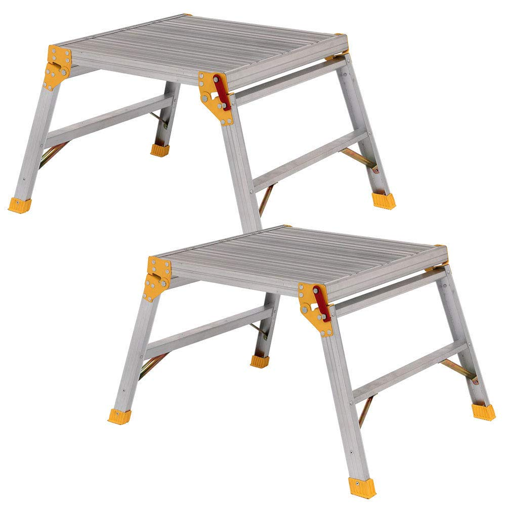 Excel 600mm x 600mm Heavy Duty Platform Work Bench Folding Hop Up Pack of 2