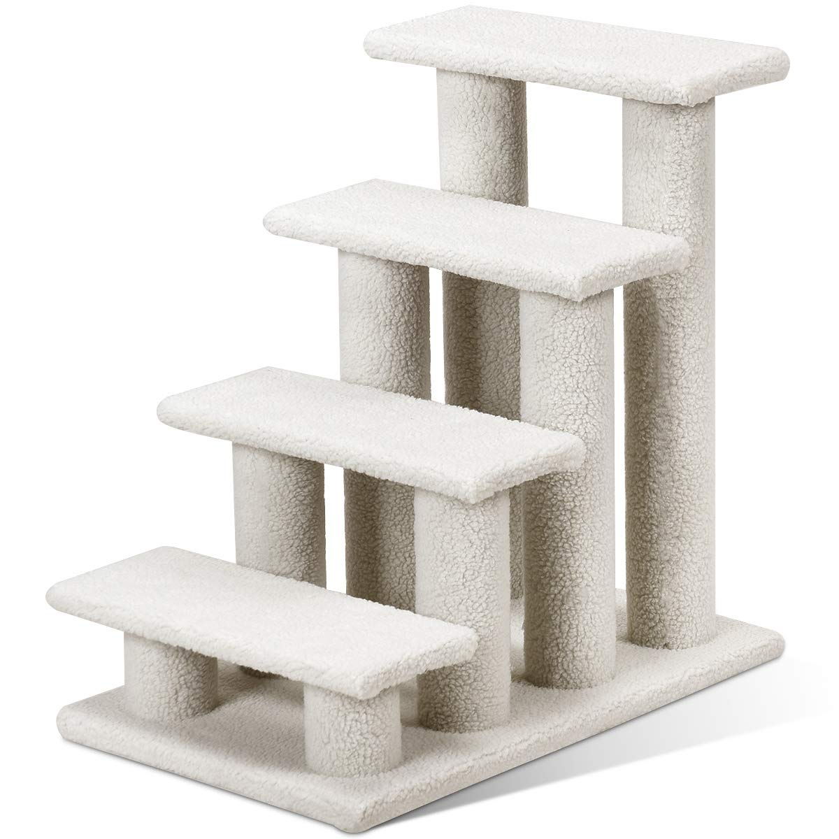 Tangkula Pet Stairs Ramp for Cats and Dogs Cat Climber Kitten Steps (Grey) by Tangkula