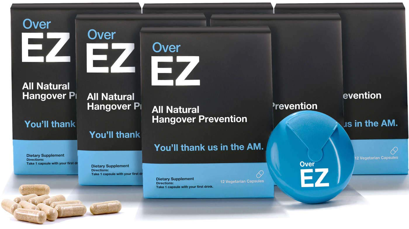 Over EZ Hangover Cure and Hangover Prevention with Milk Thistle, Anti Hangover Pill, Liver Detox with Amino Acids, Vitamin B6 and B12, Hangover Pill with 1000 milligrams 72