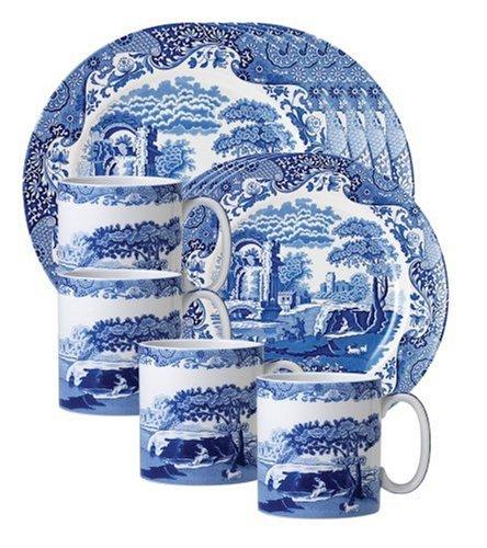 Spode Blue Italian 12 Piece Set by Spode