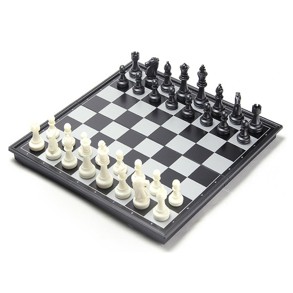 Chess Set, CHengQiSM Folding Magnetic Travel Chess Sets Portable Game Board -Professional Chess12.5 Inches for Kids Adult Man Women Teens Toy Gift - Learning and Education Toys Gift by CHengQiSM