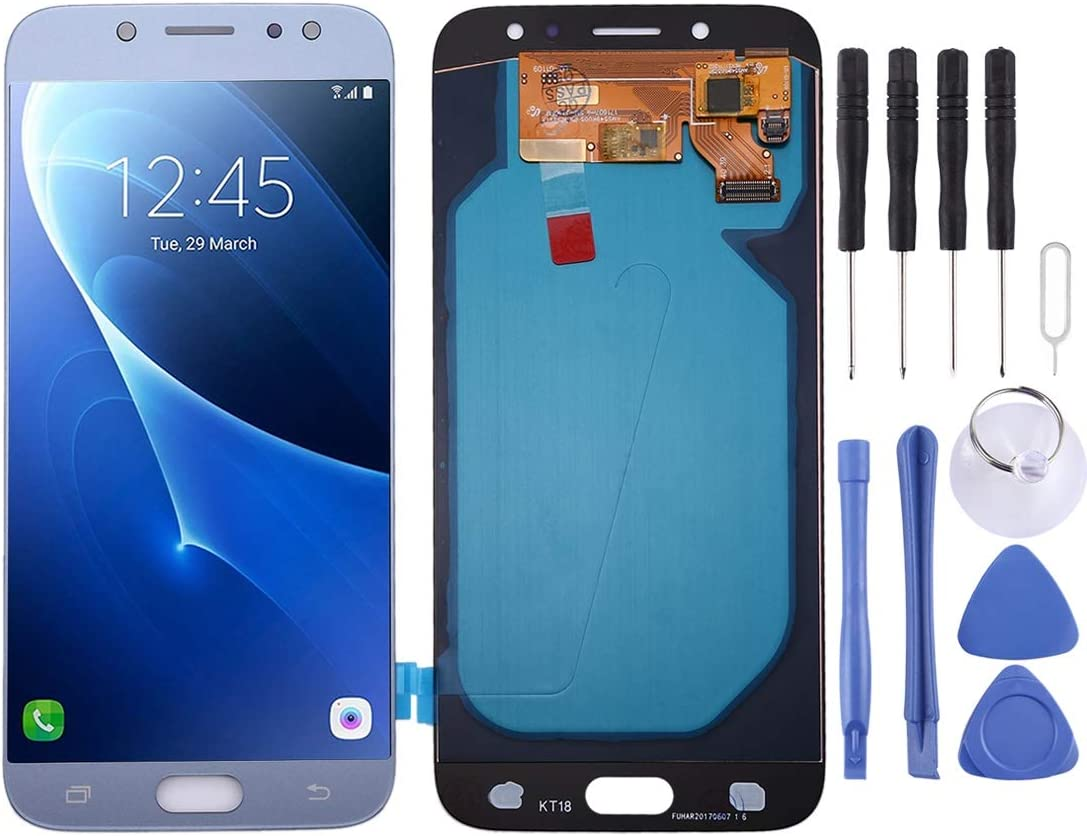 Black J730FM//DS Color : Blue 2017 Q Nobrand YBLHZPSH OLED Material LCD Screen and Digitizer Full Assembly for Galaxy J7 J730F//DS