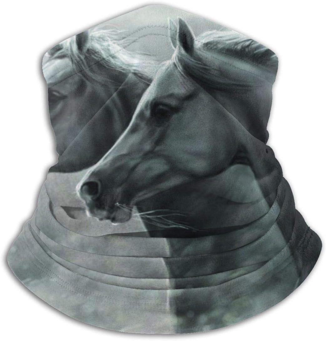 Scaldacollo Antivento ALPHNJ Due Bellissimi Scaldacollo in Pile con Motivo a Cavallo Bandane morbide