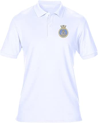 HMS Ark Royal Polo Shirt With Embroidered Logo Royal Navy