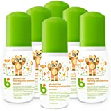 Babyganics Alcohol-Free Foaming Hand Sanitizer, On-The-Go, Mandarin, 1.69 oz, 6 Pack, Packaging May Vary