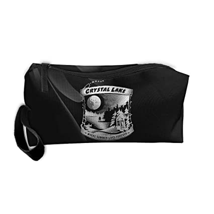 Camp Crystal Lake Where Summer Lives Forever Portable Zipper Storage Bag  Oxford Cloth Kit Organizer For