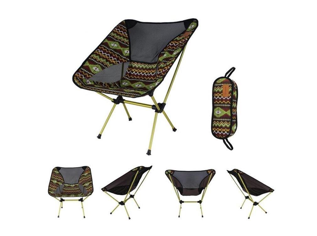 ZHDNG Mond Stuhl Outdoor Klappstuhl Aluminiumlegierung Angeln Camping