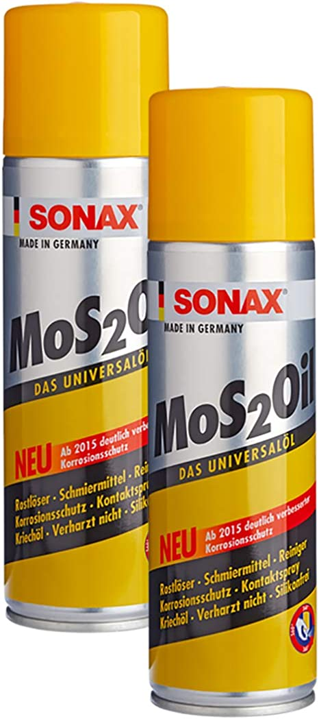 Sonax 2x 03394000 Mos2oil M Easyspray Schmiermittel Rostlöser Rostschutz 400ml Auto