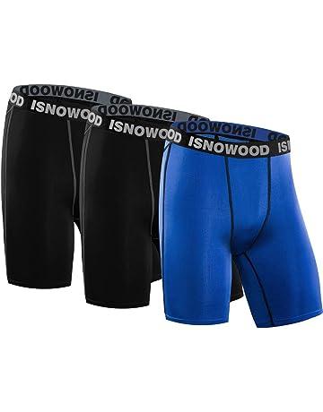 5f8fc981409532 isnowood Men s 3 Pack Performance Compression Shorts