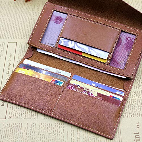 Color Brown Real Women Leather Purse Soft Long Hand rabbit Envelope Brown Clutch Flap Bag Lovely Over Shape Zq6zw