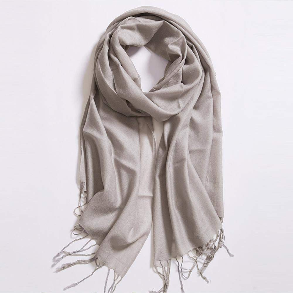 B NuoEn Scarf Autumn Winter Warm Solid color Oversized Thickened Fashion Scarf Shawl Dual use