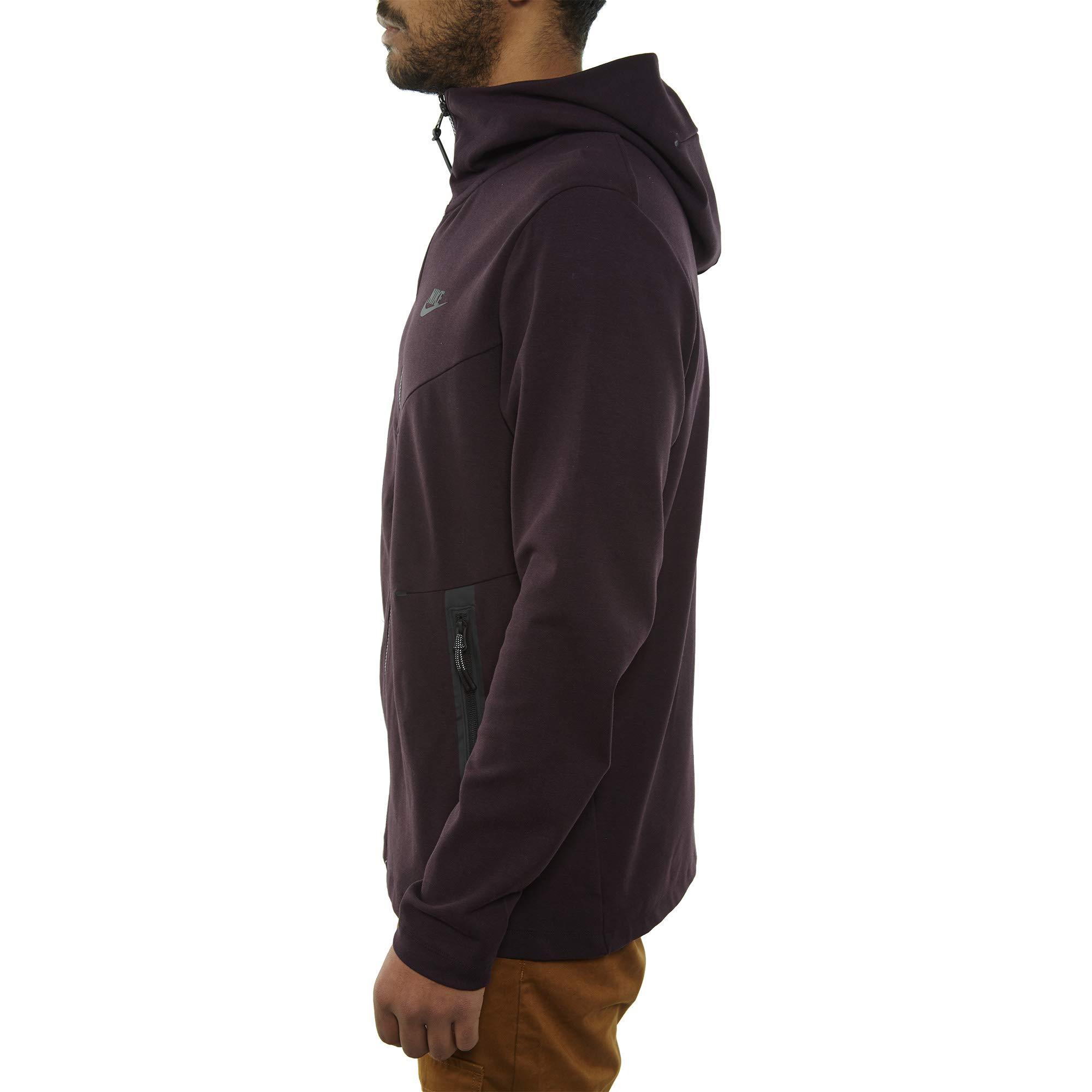 Nike Mens Tech Fleece Pack Full Zip Training Hoodie Burgundy Ash/Black AA3784-659 Size Small by Nike (Image #3)