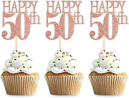 Anniversary Glitter Decoration 50th Birthday Party Ideas Number 50 Cake Topper Age Number and Pick Color Birthday Party Supplies