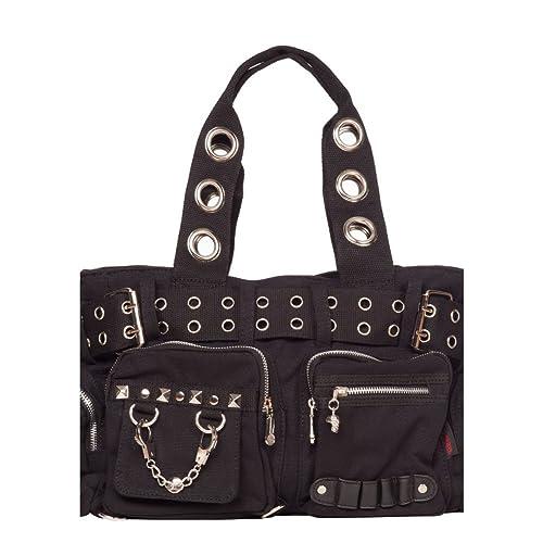 f4ea4c8f1bb1 Amazon.com: Jawbreaker Multi Pocket Tote Bag With Grommet Detail ...