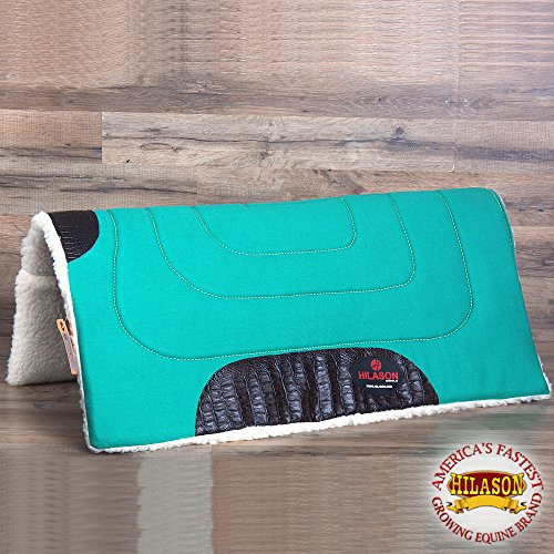 Synthetic Wool Felt (HILASON US MADE 100% WOOL FELT SYNTHETIC FUR WESTERN SADDLE PAD EMERALD GREEN)