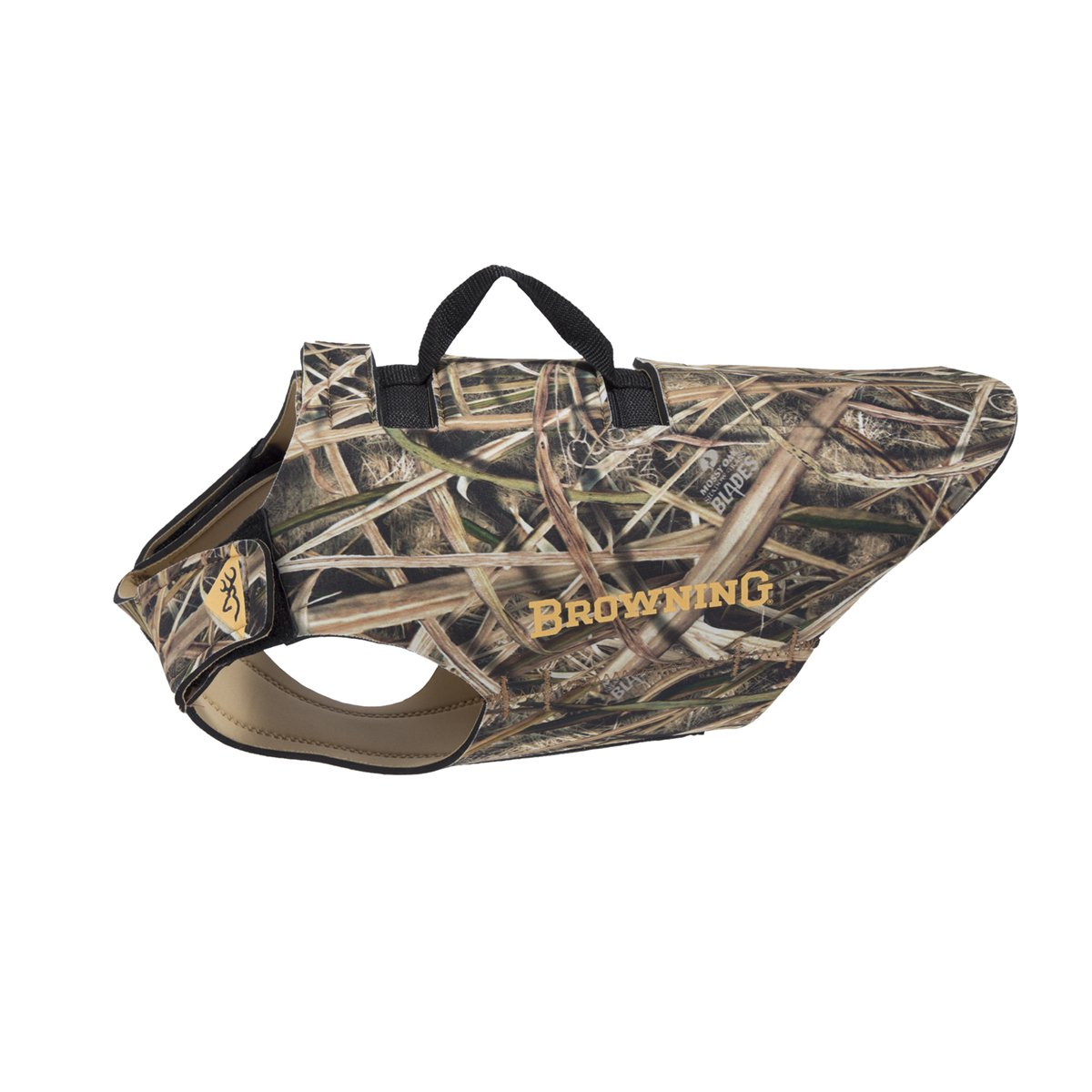 Browning 5mm Neoprene Dog Vest Dog Hunting Vest, 5mm Neoprene, Camo, Shadow Grass Blades, Small