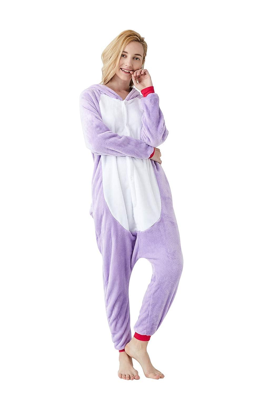 Animal Onesie Pajamas Cosplay Christmas One-Piece Novelty Sleepwear Unisex Halloween Party Costumes