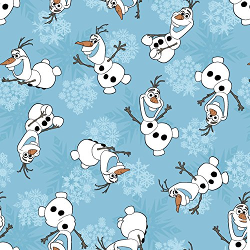 Springs Creative Products Group Disney Frozen Olaf Snowflakes Corduroy Fabric by The Yard