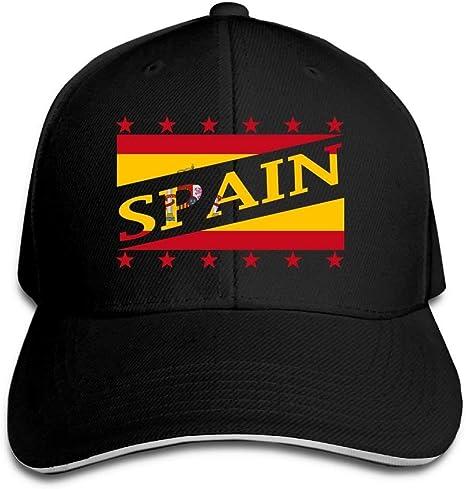 Vintage Adulto Bandera de España Copa Mundial de Fútbol Dad Hat Snapback Hat Black Sandwich Peaked Cap Black New2: Amazon.es: Deportes y aire libre