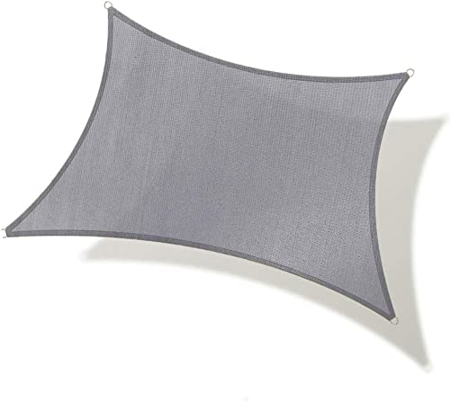 REPUBLICOOL Rectangle 8'x10' Grey Sun Shade Sail UV Block Awning Cover