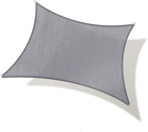 REPUBLICOOL Rectangle 8'x10' Grey Sun Shade Sail UV Block Awning Cover
