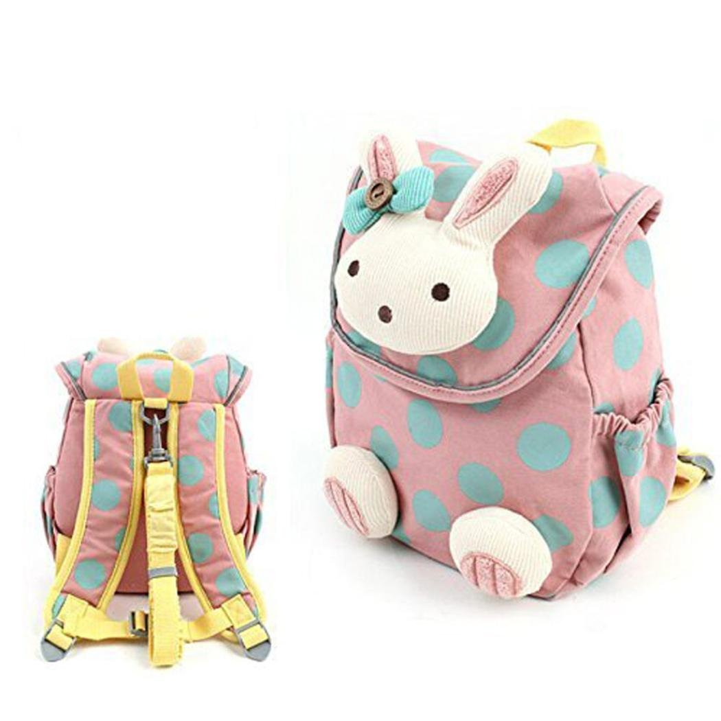 Koly Animal Rabbit Anti-lost Baby Backpack Toddler Kids School Bag (A)