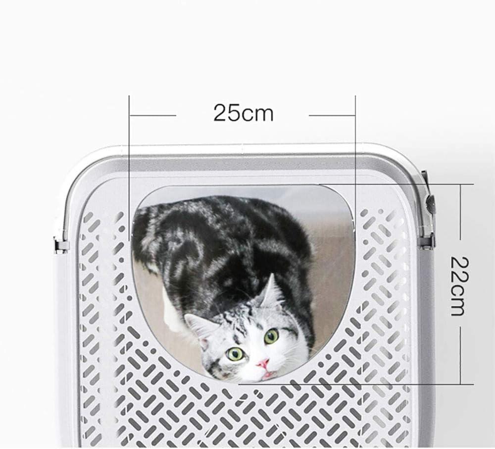 caja de arena para gatos con cubierta completa Caja de arena para gatos completamente cerrada a prueba de salpicaduras Inodoro con caj/ón cerrado con pala para basura Claraboya Inodoro para gatos