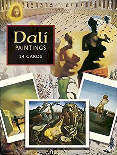 dali paintings 24 cards dover postcards