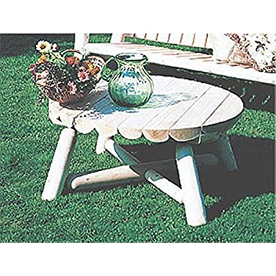 Rustic Natural Cedar Furniture Round Outdoor Coffee Table