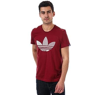 adidas Originals T-Shirt Trèfle Rouge Homme  adidas Originals ... ef48d2a0b64