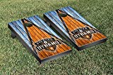 Houston Dynamo MLS Soccer Regulation Cornhole Game Set Triangle Weathered Version