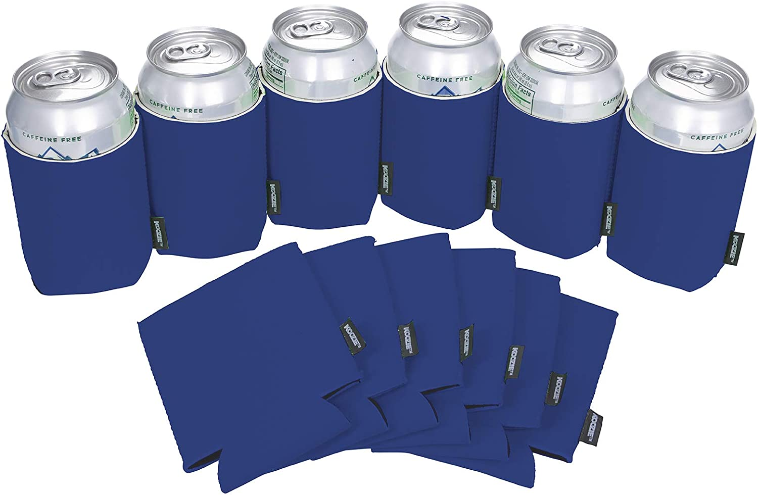 Koozie Can Cooler Blank Neoprene Beer Coozie for Cans, Bulk Insulated 12oz Beverage Holder Personalized Gifts for Events, Bachelorette Parties, Weddings, Birthdays - Pack of 12 Sleeves (Royal Blue)