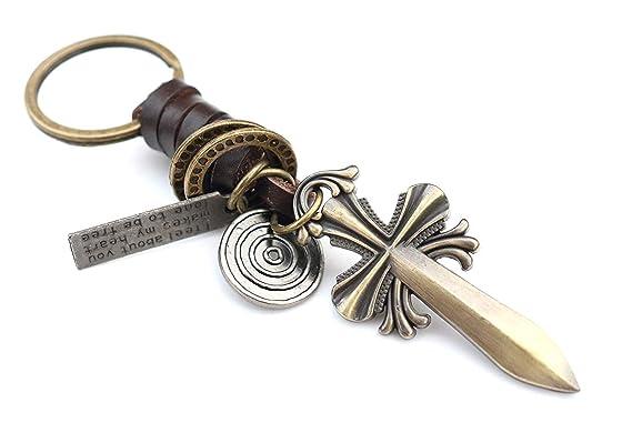 SGJIN HOME Espada romana llavero regalo |Llavero Vintage de ...