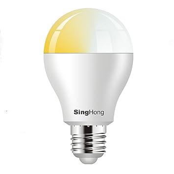 Singhong Wi Fi Stimmbar Weiß Glühbirne Funktioniert Mit Amazon