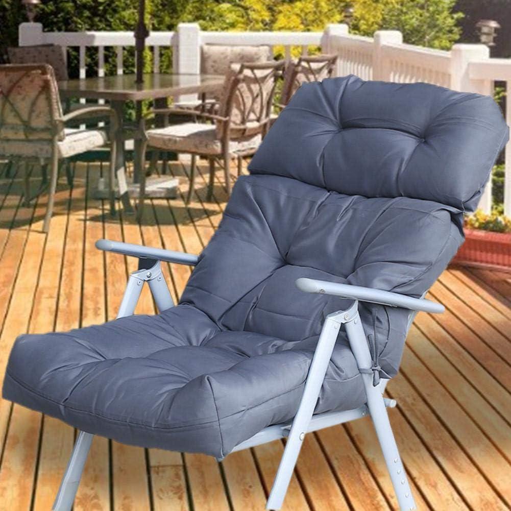 almohada de banco largo para exterior//interior resistente al agua funda de asiento para columpio de jard/ín o sof/á de jard/ín gris Coj/ín grande para asiento de banco de jard/ín 112 x 56 cm