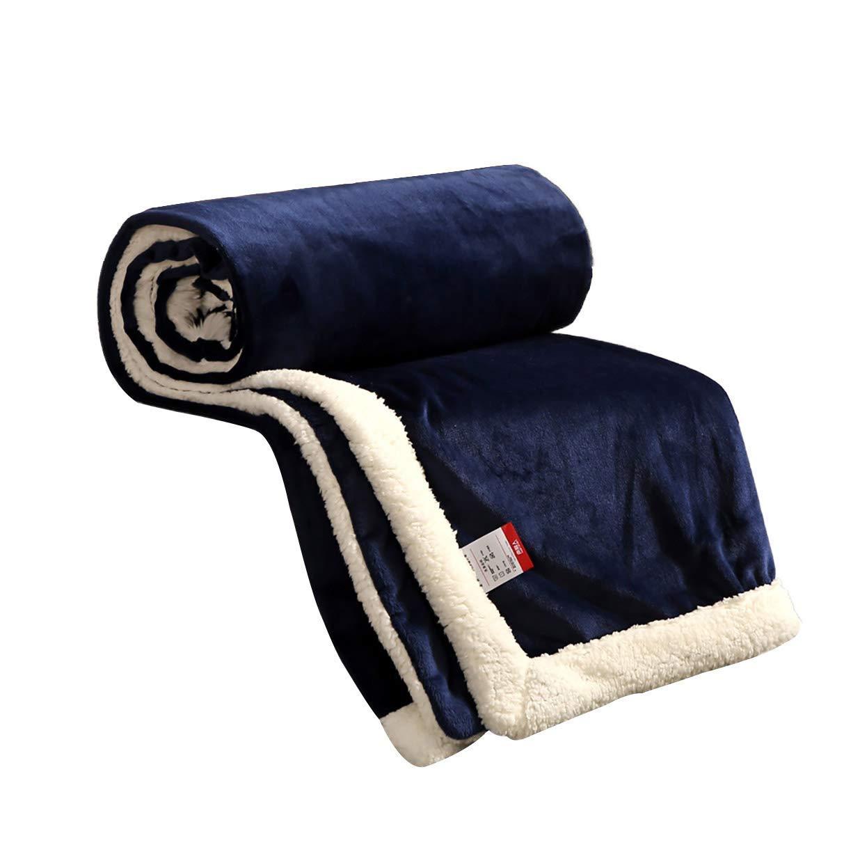 フェイクファー毛布フェイクファー、無地毛布学生寮の女性の冬厚いサンゴフリース毛布暖かいシートキルト(色:B、サイズ:200× 230 cm) B07QNJ237K