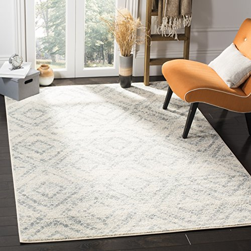Cheap Safavieh Adirondack Collection ADR131T Ivory and Light Blue Vintage Geometric Area Rug (3′ x 5′)