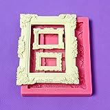 Star-Trade-Inc - Frame/Photo Frame Silicone Mold Fimo mold Chocolate Mold Fondant Cake Decoration Mold Sugar Craft Tools Soaps H698