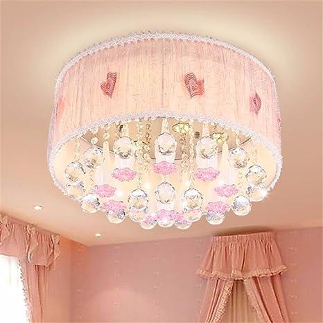 malovecf Cristal Rosa - Lámpara LED de techo niña Dormitorio ...