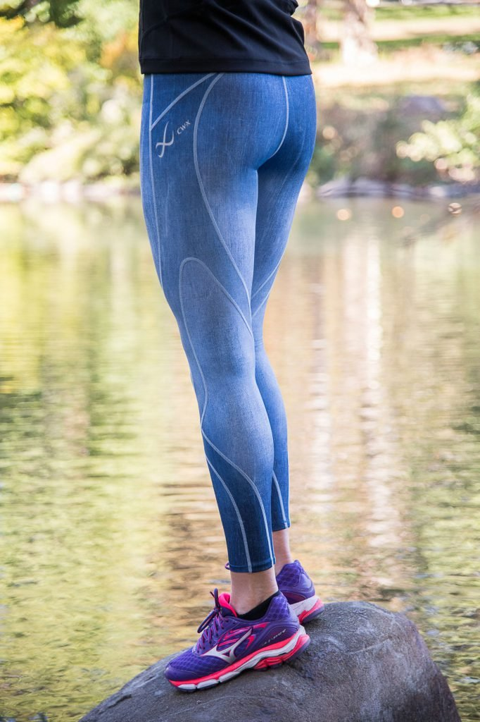 CW-X Women's Stabilyx Joint Support Compression Tight, Denim Blue, X-Small by CW-X (Image #4)