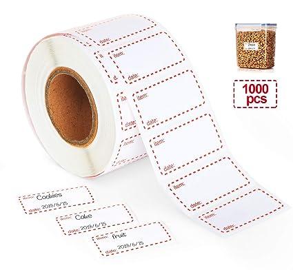 /Ø 30 mm wieder abl/ösbar 1000 Papier-Etiketten auf Rolle Labelident Verschlussetiketten wei/ß
