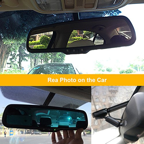 auto dimming car interior rear view mirror bracket installation with wire cover desertcart. Black Bedroom Furniture Sets. Home Design Ideas