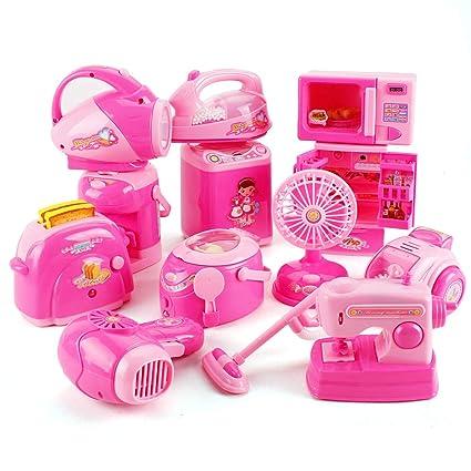 7f59c2cd9 Fantarea 12 PCS Mini Small Children Pretend Kitchen Appliances Toy Kitchen  Accessories Kids Kitchen Accessories Play