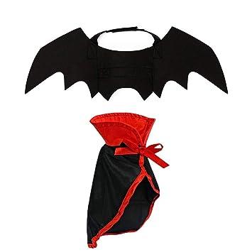 Amazon.com: LAWOHO Disfraz de Halloween para mascotas – 2 ...