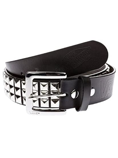 a6684f5ae6 Amazon.com  Vans Studded Leather Belt Small Black Silver  Sports   Outdoors
