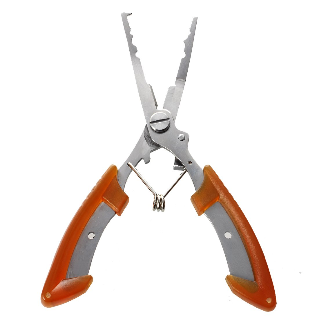 TOOGOO(R)16cm Alicates Tijeras herramienta de corte de linea de pesca de acero inoxidable Naranja